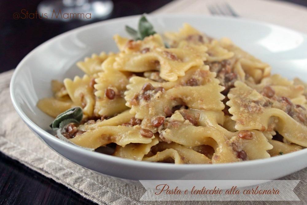 Pasta e lenticchie alla carbonara status mamma - Cucinare lenticchie in scatola ...
