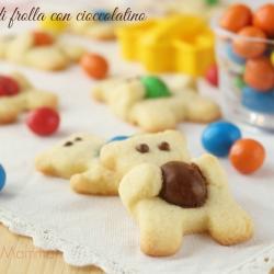 Orsetti di frolla con cioccolatino ricetta dolce biscotti bambini semplice economica Giallozafferano blogGz Statsusmamma