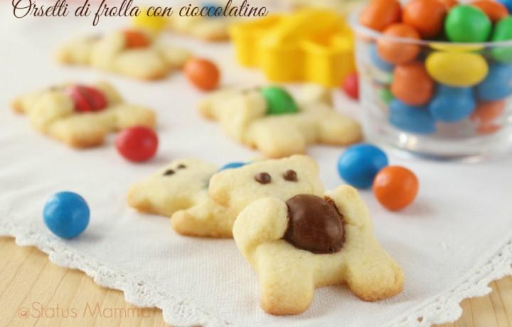 Orsetti di frolla con cioccolatino