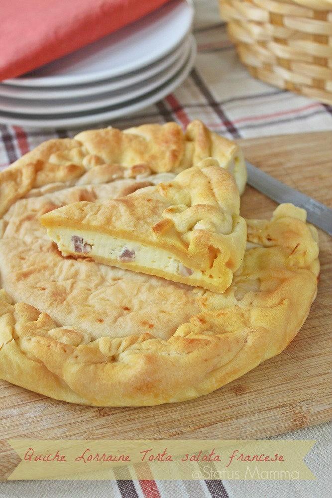 Quiche Lorraine Torta salata francese ricetta antipasto secondo contorno formaggi semplice veloce blogGz Giallozafferano Statusmamma cucinare ricetta semplice veloce economico