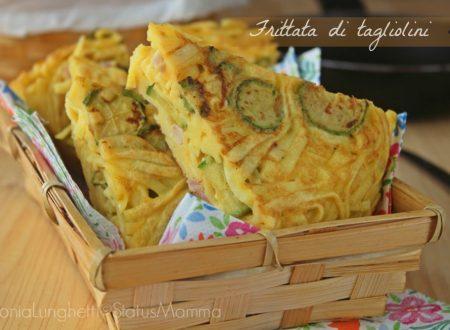 Frittata di tagliolini con zucchine e pancetta affumicata