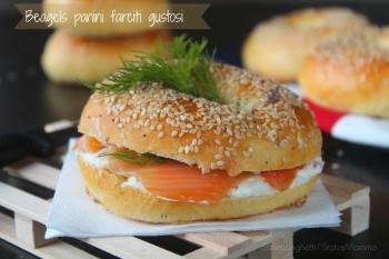 Beagels panini farciti gustosi ricetta panini panino cucinare freddo semplice economico veloce Statusmamma blogGz Giallozafferano blogGz pasqua pasquale