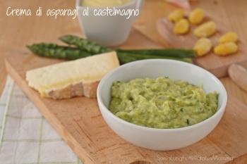 Crema di asparagi al castelmagno ricetta condimento per pasta accompagnamento frutta e verdura cucinare Statusmamma blog Gz