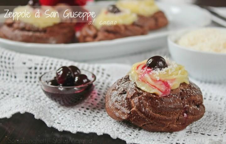 Zeppole di San Giuseppe al cacao cottura al forno