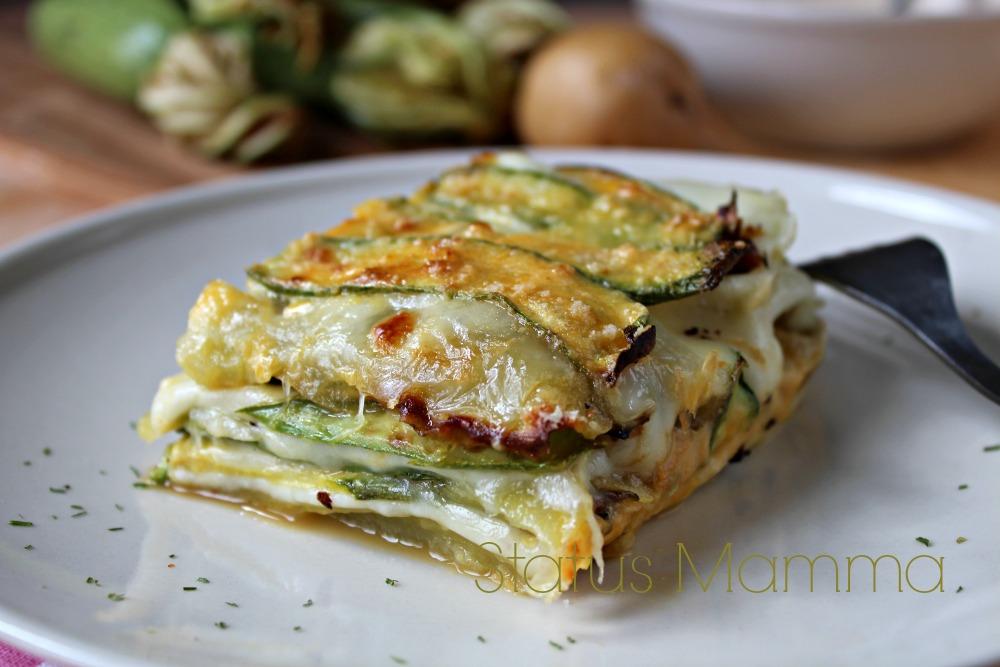 Parmigiana bianca di zucchine e patate for Cucinare le zucchine