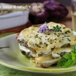 parmigiana carciofi patate ricetta cucinare light seconso antipasto al sacco pic nic vegetariano light gustoso semplice veloce economico Statusmamma blogGz Giallozafferano