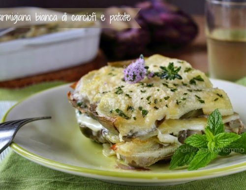 Parmigiana bianca di carciofi e patate  leggera