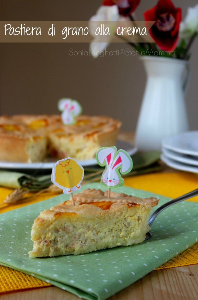 Pastiera di grano ricetta napoletana cucinare crostata con crema pasticcera Sal di Riso dolce Pasqua easter dessert blog food cucina