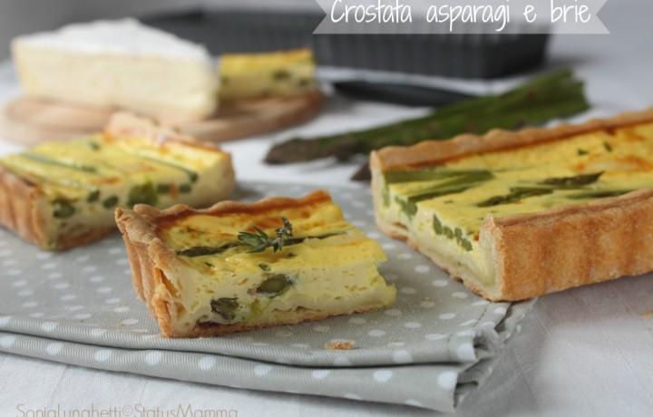 Crostata di asparagi e brie salata