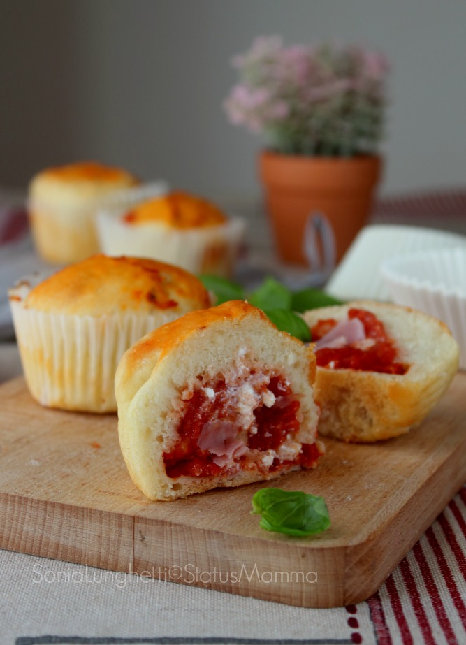 muffin salati pizzati ricetta cucinare antipasto stuzzichino buffet ricette cucinare foto blog tutorial passo passo ricetta lievitato bambini festa compleanno feste buffet
