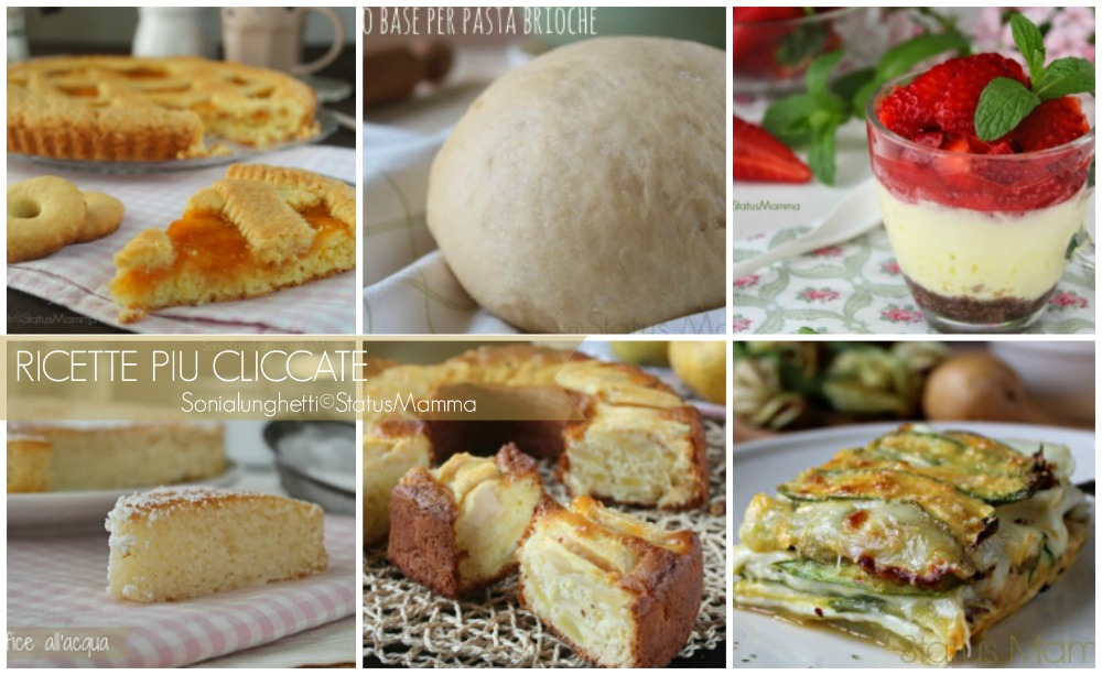 raccolta ricette blog dolci salati semplici veloce Statusmamma blogGz