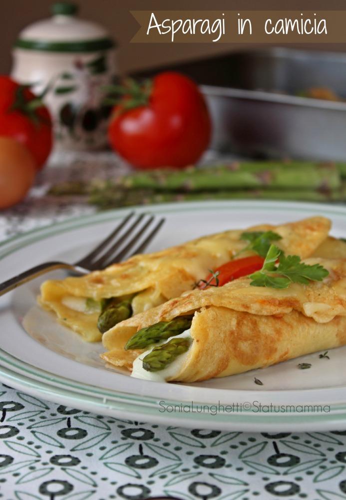 asparagi in camicia ricetta gustosa Statusmamma cucinare blog foto tutorial passo passo secondo giallozafferano gialloblogs Gz foto