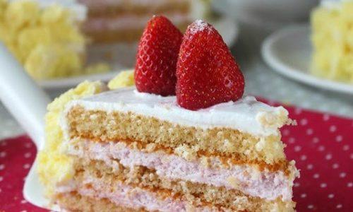 Torta viennese con crema di fragole