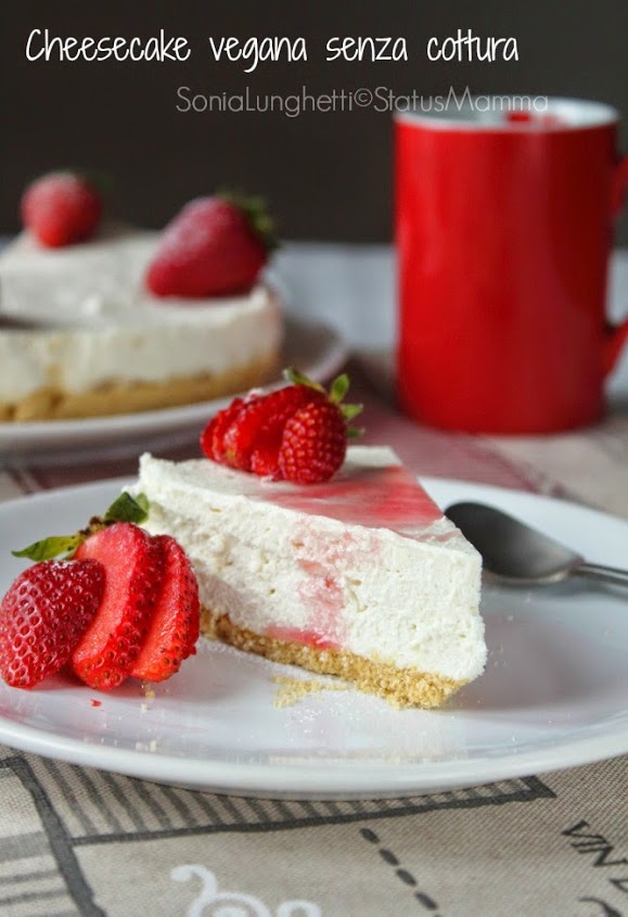 Cheesecake vegana ricetta con tofu yogurt di soia burro di soia biscotti vegani Statusmamma gialloblogs Giallozafferano blogGz