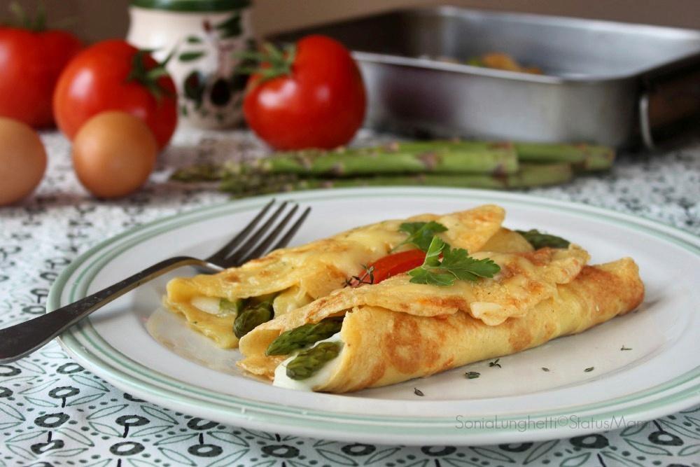 crepes di asparagi in camicia ricetta gustosa Statusmamma cucinare blog foto tutorial passo passo secondo giallozafferano gialloblogs Gz foto