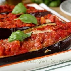 melanzane ai peperoni ricetta cucinare vegetariano Statusmamma blogGz semplice veloce economico ortaggi maggio giugno luglio