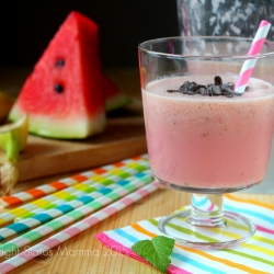Frullato di frutta estiva ricetta cucinare bevanda dolci frullati semplice veloce economico vegan vegetariano Statusmamam gialloblogs