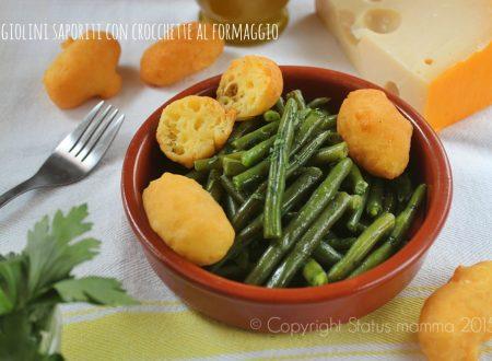 Fagiolini saporiti con crocchette al formaggio