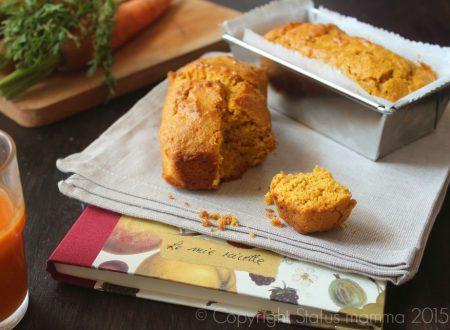 Plumcake al succo di carote senza uova e lattosio