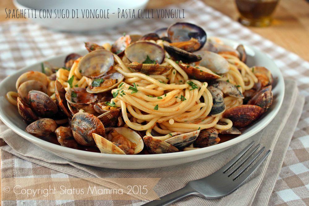 Spaghetti con sugo di vongole alla pugliese