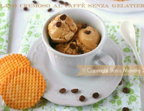 Gelato cremoso al caffè senza gelatiera