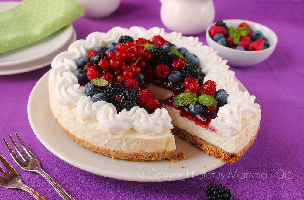 cheesecake ricotta e yogurt con frutta fresca status mamma