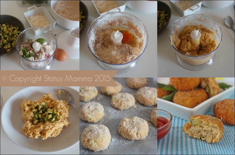 Polpette di pollo e zucchine ricetta secondo con verdure cucinare semplice veloce economico bambini Statusmamma Giallozafferano foto blog tutorial passo passo semplice veloce.