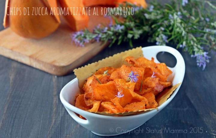 Chips di zucca aromatizzate al rosmarino