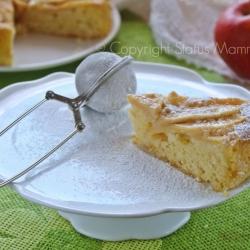 Torta di mele casalinga facile ricetta dolce colazione merenda Statusmamma Gialloblogs blogz con frutta scuola ricetta per bambini facile veloce economica