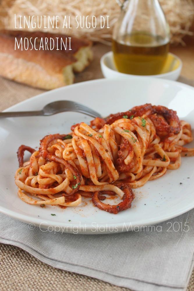 Linguine al sugo di moscardini primo ricetta facile cucinare mare gustoso © Copyright Status mamma 2015 Statusmamma Giallozafferano foto
