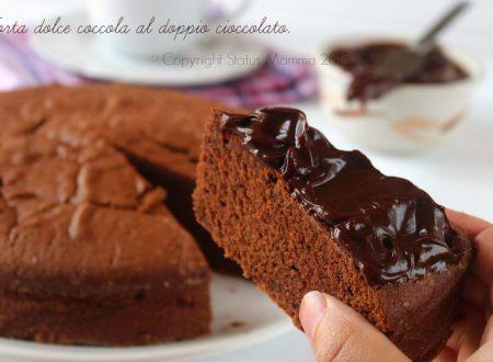Torta dolce coccola al doppio cioccolato