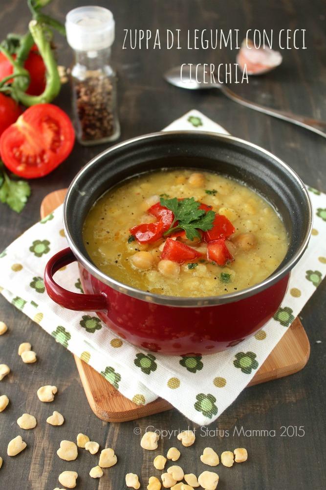zuppa di legumi con ceci cicerchia semplice gustosa e confortante, economica ricca di fibre per tutta la famiglia Statusmamma © Copyright Status mamma 2015