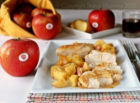 Petti di pollo al marsala con mele Fuji e mandorle al curry