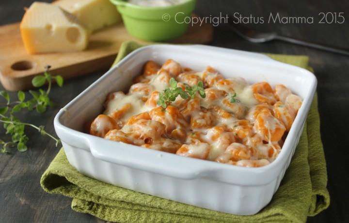Gnocchi di carote ai formaggi