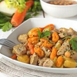 Gnocchi di carote e spezzatino ricetta primo gustoso con carne verdure facile cucnia in anticipo © Copyright Status mamma 2015 Giallozafferano Statusmamma
