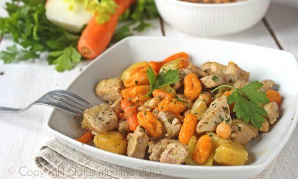 Gnocchi di carote e spezzatino