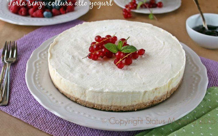 Torta senza cottura allo yogurt