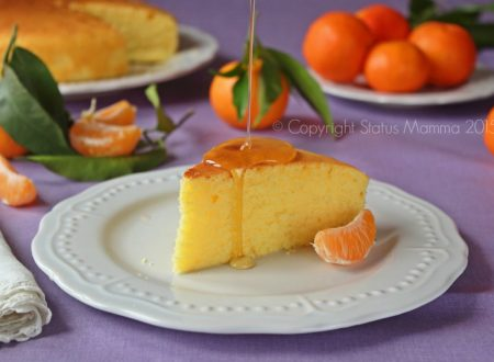 Torta soffice ai mandarini alla panna senza burro