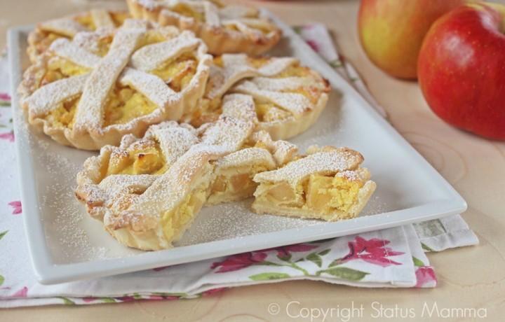Mini pie di mele con ricotta