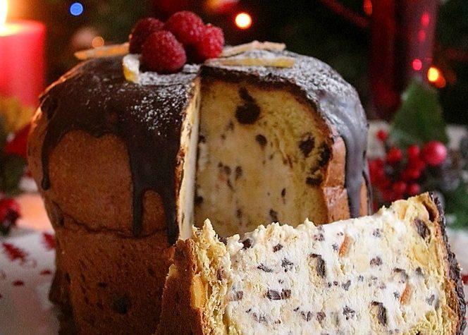 Panettone al gelato dolce Natalizio