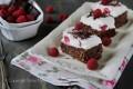 Brownie cheesecake mascarpone e lamponi