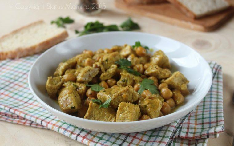 Spezzatino di vitello e ceci  al curry