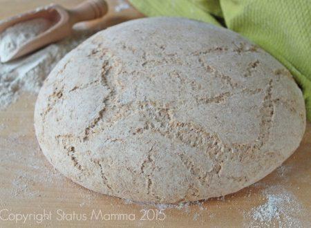 Ricetta per preparare un impasto base pasta di pane con farina integrale