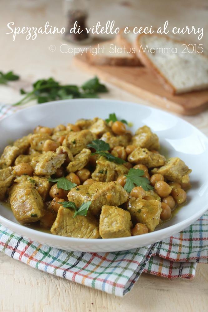 ricetta cucinare secondo bocconcini spezzatino di carne con ceci curry facile gustoso Statusmamma Gialloblogs © Copyright Status Mamma 2015