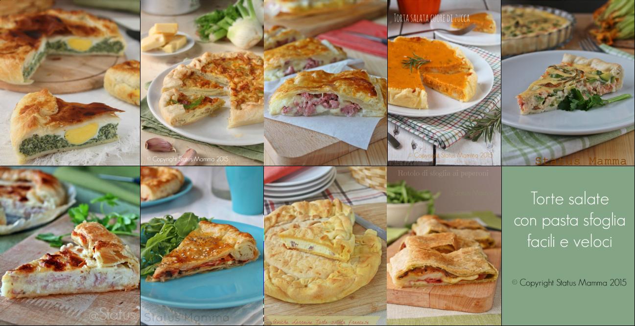 Torte salate con pasta sfoglia facili e veloci for Torte salate facili