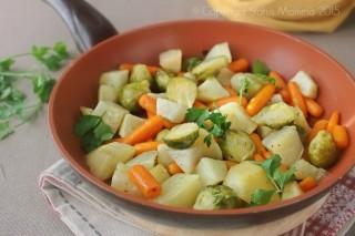 Contorno invernale di verdure in padella facile gustoso economico Statusmamma Vegetariano vegano Giallozafferano