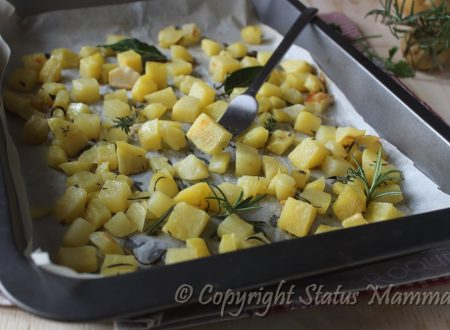 Patate croccanti agli aromi al forno