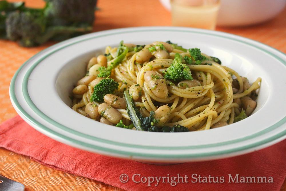 Pasta con broccoli e fagioli