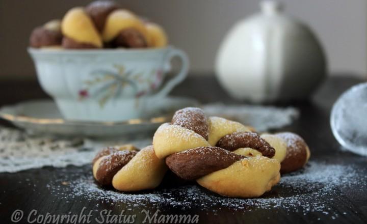 Biscotti bicolore con lievito madre