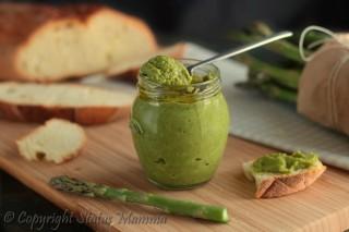 pesto di asparagi ricetta semplice veloce stiva facile con verdure vegetariana vegana primo antipasto condimento secondo Statusmamma gialloblog